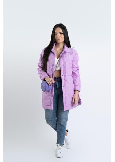 Jacheta oversize lila