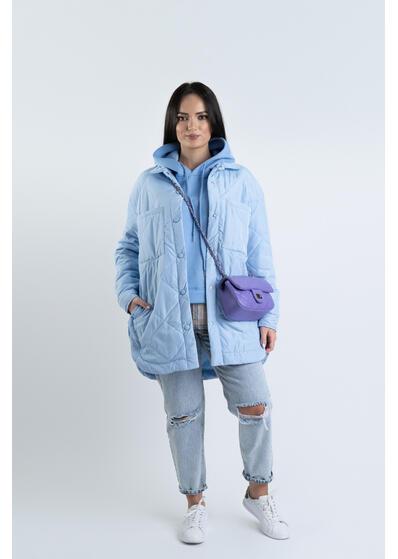 Jacheta oversize bleu