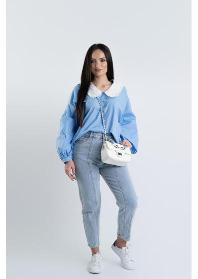 Camasa guler bleu