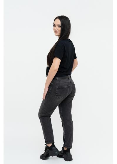 Jeans negru gri curea