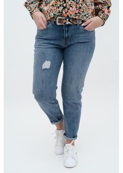 jeans blugi de dama boyfriend albastru