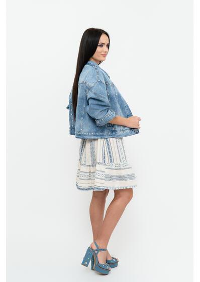 jacheta geaca de dama de blugi