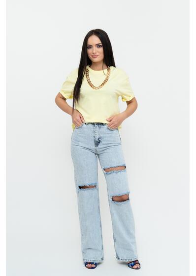 Jeans evazat rupt