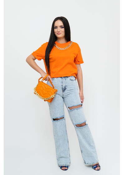 Tricou lant orange