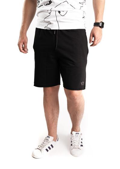 pantalon scurt sport de barbati negru de vara trening