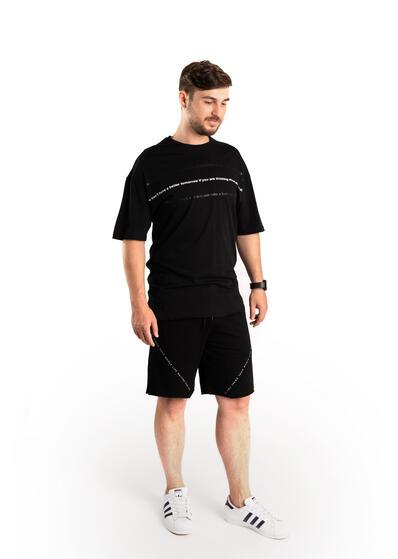 tricou barbati negru lung sport