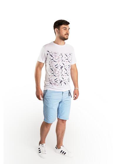 Pantalon scurt casual bleu