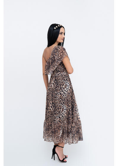 rochie eleganta animal print de vara