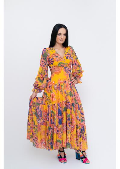rochie lunga de vara colorata