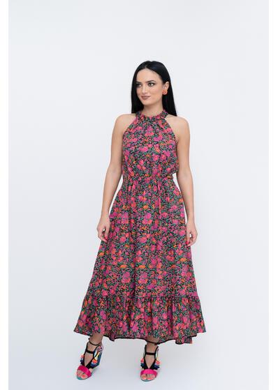 rochie lunga de vara cu floricele