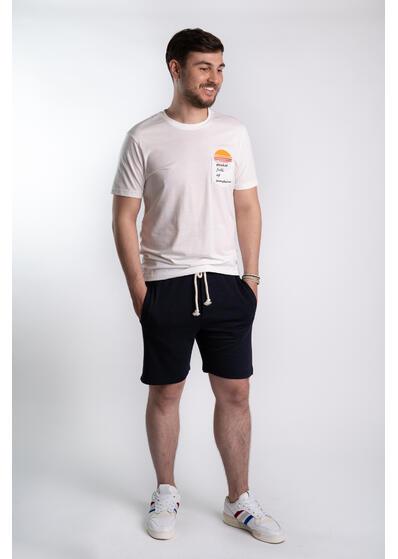 Tricou barbati alb Pocket